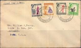 RHODESIA & NYSALAND- SET OF 4 ON FDC- RHODESIA-1953-BX1-385 - Zimbabwe (1980-...)