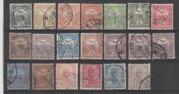 HONGRIE 1913  - Obl. Y&T 89-105 - TYPE I & II -  SERIE  -  20 Pc - - Hongrie