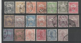 HONGRIE 1913  - Obl. Y&T 89-105 - TYPE I & II -  SERIE  -  20 Pc - - Ungheria