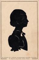 Silhouette - Profile Of A Woman - Belgrade Serbia Aviation Exhibition 1939 Hand Made Card - Silhouette - Scissor-type
