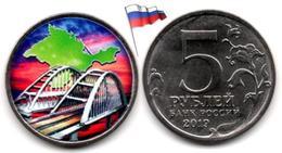 Russie - 5 Roubles 2019 (Crimea Bridge - Color) - Russia