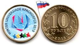 Russie - 10 Roubles 2018 (Logo World Winter Universiade 2019 In Krasnoyarsk - Color) - Russia