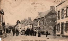 Belle-Isle En Terre - Avenue Des Bicyclettes 1905 - !!! Hélas Sale & Coin Déchiré - Photo A&B Nancy - Autres Communes
