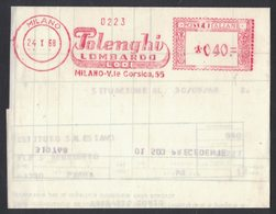 AP86   Italia, Italy 1968  Red Meter, EMA Freistempel  POLOLENGHI LOMBARDO, Latterie Milk Lait Dairy Produits Laitiers - Alimentazione