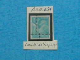 FRANCE - Timbre Neuf  Xx N°650 VARIETE De Piquage - Non Dentelé - France