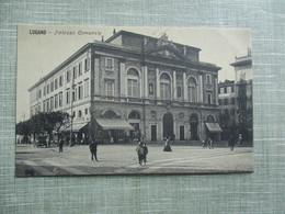 CPA ITALIE LUGANO PALAZZO COMUNALE ANIMEE - Italia