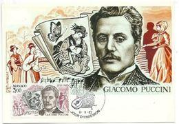 Carte Maximum Monaco   Giacomo Puccini -1983 - Musik
