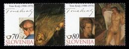 ESLOVENIA 2000 - SLOVENIE - PINTOR TONTE KRALJ - YVERT Nº 299-300* - Slovénie