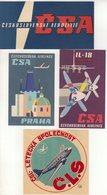 TCHECOSLOVAQUIE : CLS CSA . - Étiquettes à Bagages