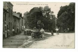 Yvernaumont - Rue De La Forge (animation, Les Billes De Bois Sont Montées à L'étage) Cir 1910, Cachet Convoyeur Charlevi - France