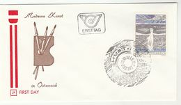 1977 AUSTRIA FDC FEMALE NUDE Hutter ART Stamps Special Pmk Cover - Nudes