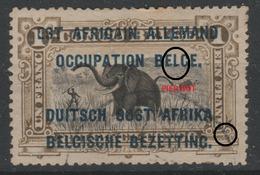 Ruanda-Urundi 1916 - Obl. COB 34 L - 1F - Est Africain Allemand Occupation Belge - Type B - - 1916-22: Usati