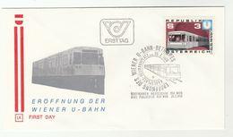 1978 AUSTRIA Vienna UNDERGROUND RAILWAY ANNIV Special FDC  Stamps Train Cover - Trains