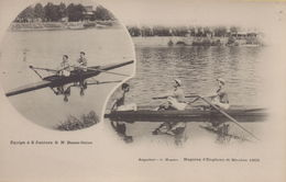 Meulan : Equipe à 2 Juniors S.N. Basse-Seine - Régates D'Enghien Et Meulan 1903 - Meulan