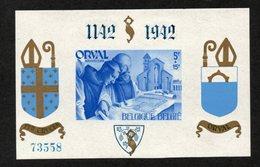 BELGIE 1942 BLOKJE ORVAL 21 ONGETAND GENUMMERD VF TBN MNH** - Blocks & Sheetlets 1924-1960