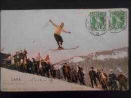 Suisse Carte De Caux 1908 Pour Paris - Suisse