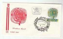 1975 AUSTRIA FDC MODERN ART Stamps SPECIAL Pmk  Cover - Modern