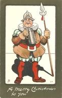 """""""J.P. Beer Drinker SOldier"""" Tick Christmaspostard Series # 1815 - Tuck, Raphael"""