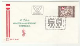 1977 Austria SAMARITANS , ART BASSANO RELIGION  Special FDC  Stamps Health Cover - Religious