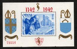 BELGIE 1942 BLOKJE ORVAL 18 GENUMMERD VF TB MNH** - Blocks & Sheetlets 1924-1960