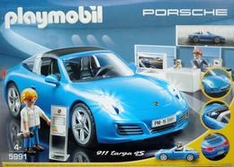 PLAYMOBIL 5991 -  SUPERBE PORSCHE 911 TARGA 4S  Avec Effets Lumineux Intérieur  Et Extérieur -  Dans Son Coffret - Playmobil