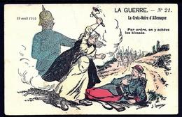CP 3- CPA FRANCE- MILITARIA- ILLUSTRATION SIGNÉE DECAUNES- LA CROIX NOIRE D'ALLEMAGNE-  N° 21- 19 AOÛT 1914- - Patriotiques