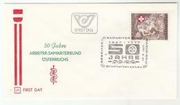 1977 Austria SAMARITANS , ART BASSANO RELIGION  Special FDC  Stamps Health Cover - First Aid