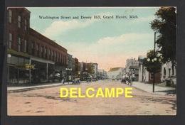 DF / ETATS-UNIS / MICHIGAN / GRAND HAVEN / WASCHINGTON STREET AND DEWEY HILL / 1920 - Etats-Unis