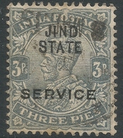Jind State(India). 1914-27 KGV. 3p Used. SG O35 - Jhind
