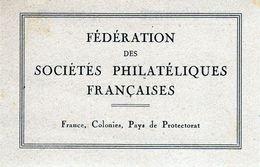 Fédération Des Sociétés Philatéliques Françaises-carte D'identité 1944 N°13757- Société Française De Timbrologie - Stamps