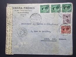 Marcophilie  Cachet Lettre Obliteration - Timbres - EGYPTE Alexandrie Destination FRANCE (2345) - Egypt