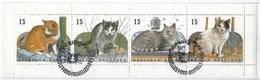 België O.B.C   Boekje 24   (2521 / 2524)  Europese Katten - Used Stamps