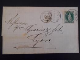 Suisse Lettre De Zurich 1884 Pour Lyon - 1882-1906 Coat Of Arms, Standing Helvetia & UPU