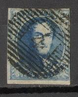 BÈLGICA-Yv. 7 A - Mi. 4 Bx-Papier Mince -Lettre En Filigrane -N-12206 - 1851-1857 Medallions (6/8)
