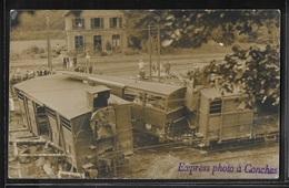 CARTE PHOTO 27 - Conches, Déraillement Du Train - RARE - Conches-en-Ouche