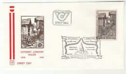 1978 Feldkirchen In Karnten  SWITBERT LOBISSER Special FDC  Stamps ART RELIGION Church  Cover AUSTRIA - Engravings