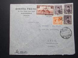 Marcophilie  Cachet Lettre Obliteration - Timbres - EGYPTE Alexandrie Destination FRANCE (2347) - Egypt