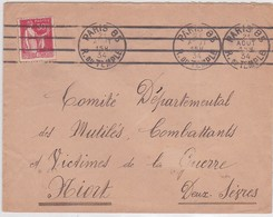 LSC - PARIS 85 / 21 AOUT 34 - Marcophilie (Lettres)