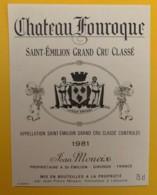 10318 - Château Fonroque 1981 Saint Emilion - Bordeaux