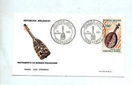 Lettre Fdc 1965 Musique - Madagascar (1960-...)