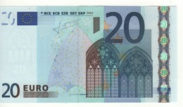 "20 EURO  ""S"" Italia    Firma Trichet     J 022 C1   /  FDS - UNC - EURO"
