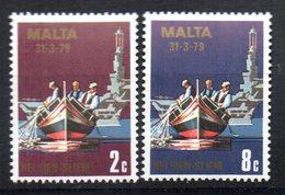 Sellos Nº 577 Y 580 Solo Barcos  Malta - Barcos