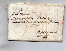 Bureau Français De ROME,linéaire Sur L.A.C. Du 4/8/1788 Pour PERPIGNAN. - Poststempel (Briefe)
