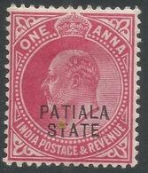 Patiala State(India). 1912 KEVII. 1a MH. SG 47 - Patiala