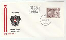 1976 AUSTRIA FDC Verwaltungs Gerichtshof COURT  Cover - FDC