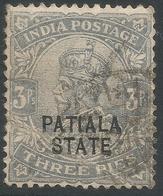 Patiala State(India). 1912 KGV. 3p Used. SG 63 - Patiala