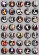 Romy Schneider Movie Film Fan ART BADGE BUTTON PIN SET 5 (1inch/25mm Diameter) 35 DIFF - Cinéma