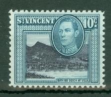 St Vincent: 1949/52   KGVI    SG170a     10c         MNH - St.Vincent (...-1979)