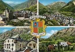 Andorra  Studio Radio Andorre Andorre La Vieille  Timbrée  2 Timbres Leger Pli Coin - Andorre