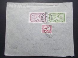 Marcophilie  Cachet Lettre Obliteration - Timbres - INDOCHINE Saigon Vers La France (2350) - Indochine (1889-1945)